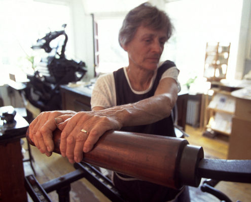 hand press printing