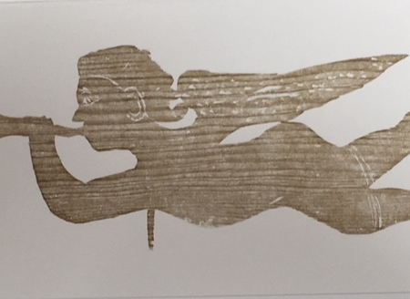 Angel weathervane, ca 1800