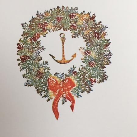 Wreath with Anchor card