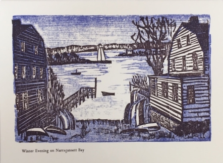 Winter Evening on Narragansett Bay card