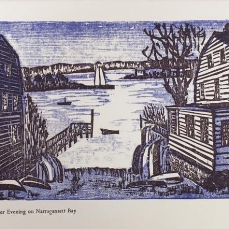 Winter Evening on Narragansett Bay card