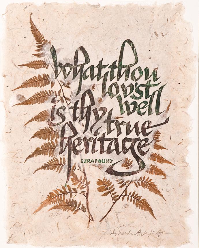 ezra pound quote heritage