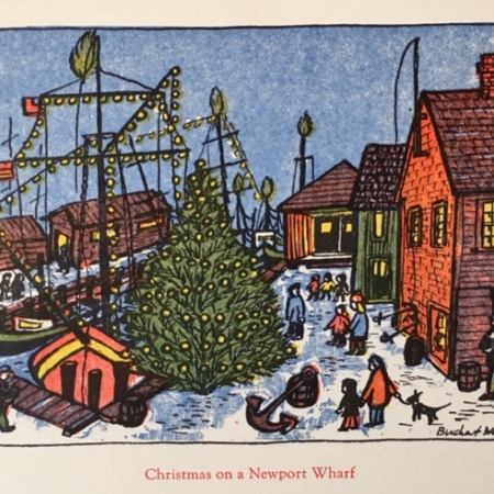 Christmas on a Newport Wharf card