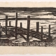 "woodcut print ""Quiet Waters"" by Ilse Buchert Nesbitt"