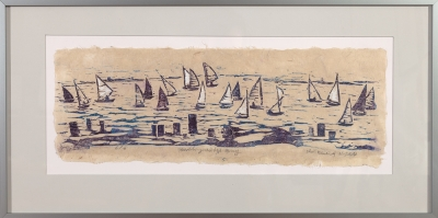 "Framed print of ""Sailing on the Bay"" by Ilse Buchert Nesbitt"
