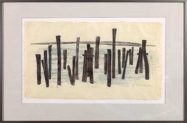 """framed print of """"Winter Harbor"""" by Ilse Buchert Nesbitt"""