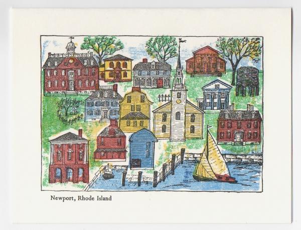 Newport Notecard - color print by Ilse Buchert Nesbitt