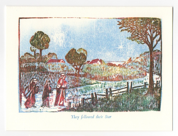3 Kings Notecard, woodcut by Ilse Buchert Nesbitt