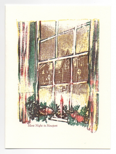 Silent Night Greeting Card, woodcut by Ilse Buchert Nesbitt