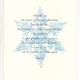 Snowflake greeting card, woodcut by Ilse Buchert Nesbitt