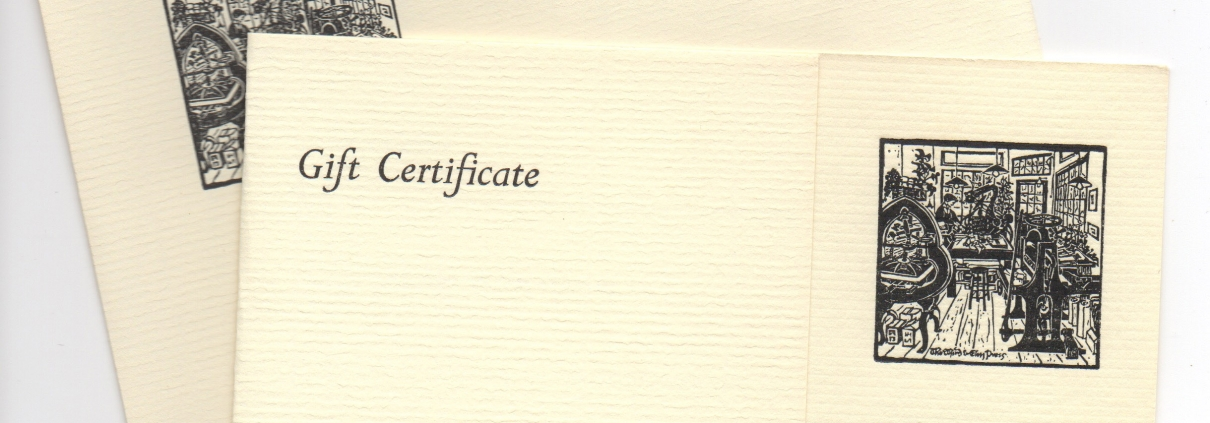 third and elm paper gift certificate image